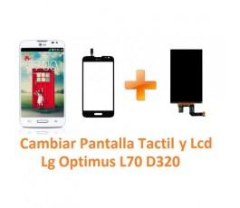 Cambiar Pantalla Táctil y Lcd Lg Optimus L70 D320 - Imagen 1