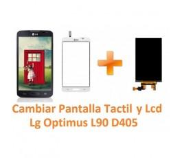 Cambiar Pantalla Táctil y Lcd Lg Optimus L90 D405 - Imagen 1