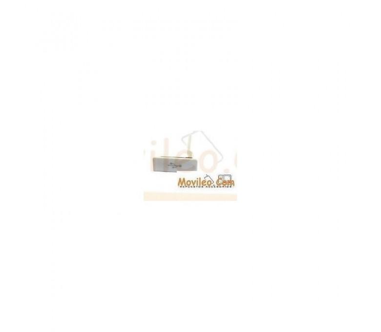 Tapa Blanca MicroUSB para Sony Xperia S, LT26I - Imagen 1