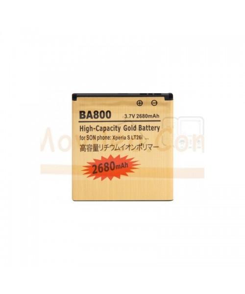 Bateria Gold de 1800mAh para Sony Xperia LT26 S 2T25 V BA800 - Imagen 1