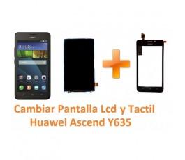 Cambiar Pantalla Táctil Cristal y Lcd Huawei Ascend Y635 - Imagen 1