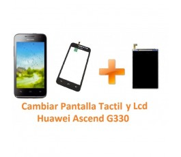 Cambiar Pantalla Táctil Cristal y Lcd Huawei Ascend G330 - Imagen 1