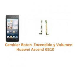 Cambiar Boton Encendido o Volumen Huawei Ascend G510 Orange Daytona - Imagen 1