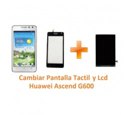 Cambiar Pantalla Táctil Cristal y Lcd Huawei Ascend G600 - Imagen 1