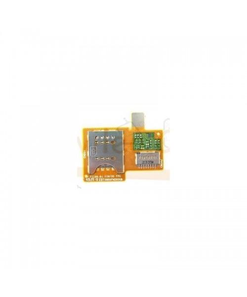 Modulo Lector Sim y MicroSD para Sony Xperia Miro, St23, St23i - Imagen 1