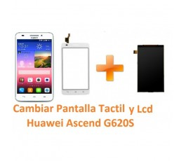 Cambiar Pantalla Táctil Cristal y Lcd Huawei Ascend G620S - Imagen 1