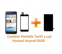 Cambiar Pantalla Táctil Cristal y Lcd Huawei Ascend G630 - Imagen 1
