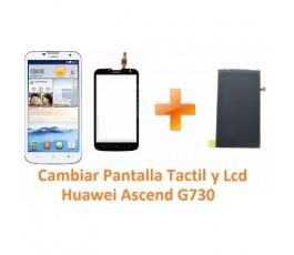 Cambiar Pantalla Táctil Cristal y Lcd Huawei Ascend G730 - Imagen 1