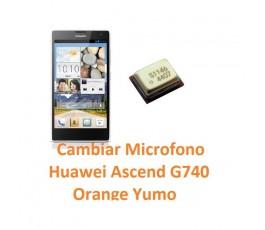 Cambiar Micrófono Huawei Ascend G740 Orange Yumo - Imagen 1