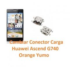 Cambiar Conector Carga Huawei Ascend G740 Orange Yumo - Imagen 1
