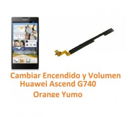 Cambiar Boton Encendido y Volumen Huawei Ascend G740 Orange Yumo - Imagen 1