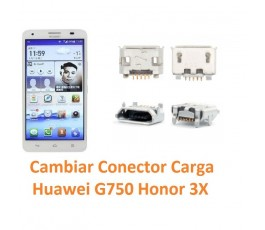 Cambiar Conector Carga Huawei Ascend G750 Honor 3X - Imagen 1