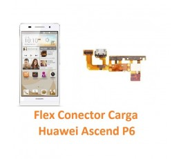 Cambiar Flex Conector Carga Huawei Ascend P6 - Imagen 1
