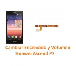 Cambiar Botón Encendido y Volumen Huawei Ascend P7 - Imagen 1
