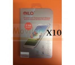 Lote 10 Protectores Cristal Templado Milo de 2.5D para Huawei Ascend G7 - Imagen 1