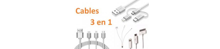 Cables 3 en 1